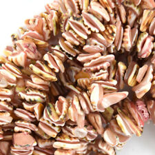"""10mm - 14mm pink shell chip nugget beads 16"""" strand"""