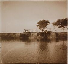 Voyage en Égypte Le Nil Plaque de verre stereo Vintage 1909