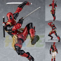 "Figma EX042 Deadpool DX Ver. PVC Action Figure Model Toy 16cm/6"" New in Box Gift"