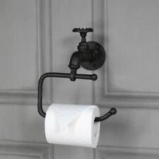 Rustic metal toilet roll tissue holder retro industrial bathroom accessories