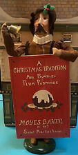 1994 Byers Choice Sandwich Board Mrs Bumbles Plum Pudding Caroler Man