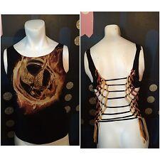 DIY Cut VTG The Hunger Games Movie Logo T Shirt S M Katniss Everdeen Mockingjay