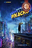 NEW POKEMON DETECTIVE PIKACHU OFFICIAL CINEMA MOVIE FILM PRINT PREMIUM POSTER