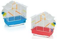 Gabbia per uccelli casetta per canarini e piccoli volatili 37x23x42h cm 2 colori