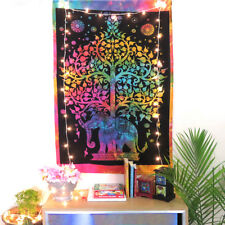 Multi Color Elephant Wall Poster Hippie Wall Decor Tapestry Indian Wall Decor