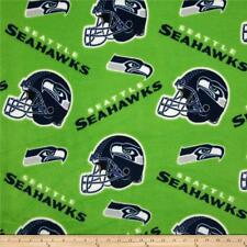 NEW SEATTLE SEAHAWKS LIME GREEN FLEECE FABRIC BLANKET MATERIAL BY 1/2 YARD CRAFT