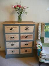 Chest of Drawers, French wine box. Shabby Chic. Laura Ashley, Farrow & Ball.
