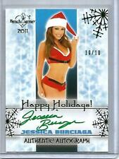 Jessica Burciaga 2011 Bench Warmer Happy Holidays Autograph #10/10