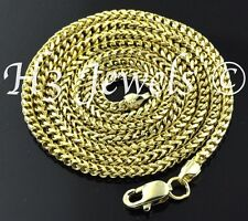 18k solid yellow gold franco chain necklace italian 18 inch 8.70 grams H3 #157