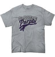 Purple Support Local Farming Farmers Farm Womens or Mens Crewneck T Shirt Tee
