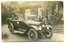 Russian WWI Front Staff Officers (Orders, Badges) Car French General Photo 1914