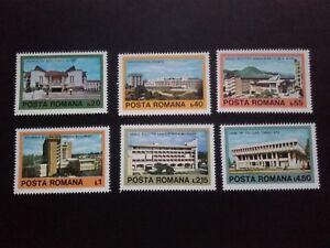 1979 - Romania - Contemporary Romanian Architecture ,Mi. 3601 - 3606,  MNH