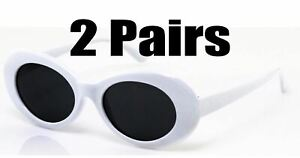 2 Pairs White Checkered Clout Goggles Rapper Hypebeast Migos Yachty Glasses