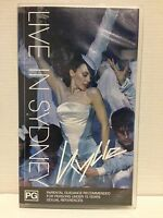 KYLIE MINOGUE ~ KYLIE LIVE IN SYDNEY ~ RARE VHS VIDEO ~ AS NEW