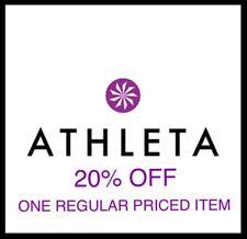 ATHLETA 20% off ONLINE & IN-Store PROMO ONE-Regular Priced Item SAVINGS DISCOUNT
