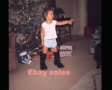 # O2- s Amateur 35mm Slide-Photo -Little Girl in Big Boots 1968