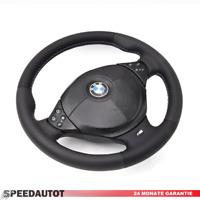 Lederlenkrad BMW M Power E34 E36 E39 Z3 mit Airbag UND Multif 4 LEDERRBEZUG