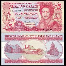Falkland Islands 5 Pounds, 2005, P-17a, UNC>QEII