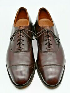 Allen Edmonds PARK AVENUE Oxfords Brown Toe Cap - Sz 8.5 C  (5845)