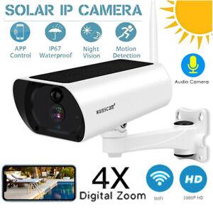 Wanscam 1080P 2MP Solar Power WiFi CCTV IP Camera 2-Way Audio TF Card Slot W1Y7