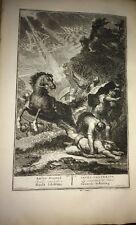 LA CONVERSION DE SAUL / gravure XVIIIéme par HOUBRAKEN