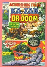 MARVEL COMICS ASTONISHING TALES # 1 KA-ZAR BY KIRBY & DR DOOM BY WOOD FN