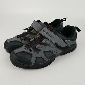 SHIMANO SH-MT43G Mt. Bike Shoes - Grey/Red Size US 9.7 /Euro 44 /27.8 Cm