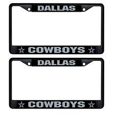 Metal Chrome Football Dallas Cowboys License Plate Frame Single Auto Tag