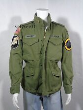 NWT RALPH LAUREN D&S Combat/Military/Field Cotton/Patches Jacket Army Green sz L