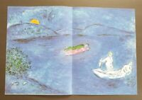 """Marc Chagall  """" Daphnis and Chloe """" Echo"""" Large Color Lithograph 1977"""