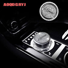 2pcs Fit For Jaguar F-Pace XF XJ XE Gear Shift Knob Ring Silver Cover Decoration