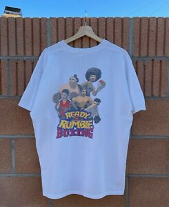 Vintage 1999 Playstation Ready 2 Rumble Boxing Video Game T-Shirt Size XL