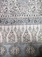 New TAHARI Cotton Ivory Blue Beige Floral Duvet Set - Full/Queen