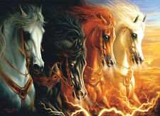 Jigsaw puzzle Fantasy Four Horses of the Apocalypse 1500 piece NEW Made in USA