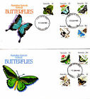 1983 Australian Animal Series III Butterflies on 2 FDC's - Euora Vic PMK