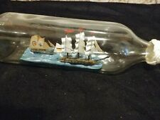 New listing Vintage Ship In A Bottle Square With Chinese Writing As Pictures Show 2 ships