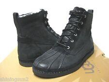 Ugg Alastair Black Leather Men Boots US9 /UK 8 /EU42 /JP27
