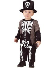 Toddler Boys Halloween Happy Skeleton Fancy Dress Costume 3-4 Years New