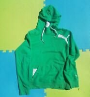 Mens Puma Big Logo Full Zip Hoody Green Sz S