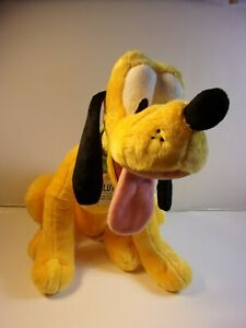 "DISNEY STORE PLUTO PLUSH DOG BIG STUFFED ANIMAL 15.5"" SOFT TOY DOLL NWT"