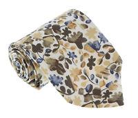 Missoni U1444 Cream/Olive Floral 100% Silk Tie