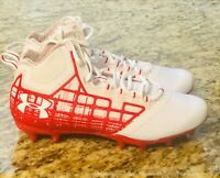 Under Armour Banshee Mid MC Lacr/FB Cleats 1297351-161 Red Size 10 **New** #UA