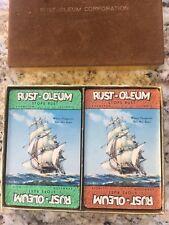 Vintage Playing Cards - Rust-Oleum 2 Decks Evanston Illinois - NEW NEVER OPEN