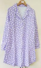 Women's Nightshirt Nightie Size 8-10 Purple Polka Dot Night Dress Flannel Cotton