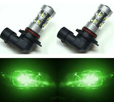 LED 50W 9005 HB3 Green Two Bulbs Head Light High Beam Replacement Show OE