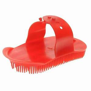 Roma Rubber Curry Comb Large Clear Pink
