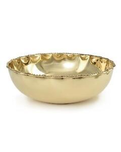 Serene Spaces Living Large Gold Brass Polished Bowl
