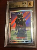 TODD GURLEY TOPPS CHROME 1989 SUPER ROOKIE AUTO REFRACTOR /25 BGS 9.5/10 FALCONS