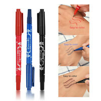 3Pcs Double Ends Temporary Ink Skin Marker Pen Tattoo Supplies Body Art Tool NOV