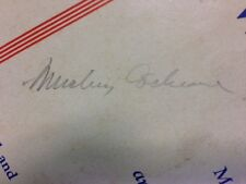 Mickey Cochrane Signed Autographed 1942 Official Score Book Louisville JSA